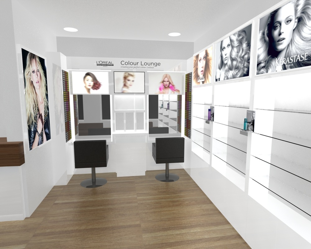 hair salon retail design